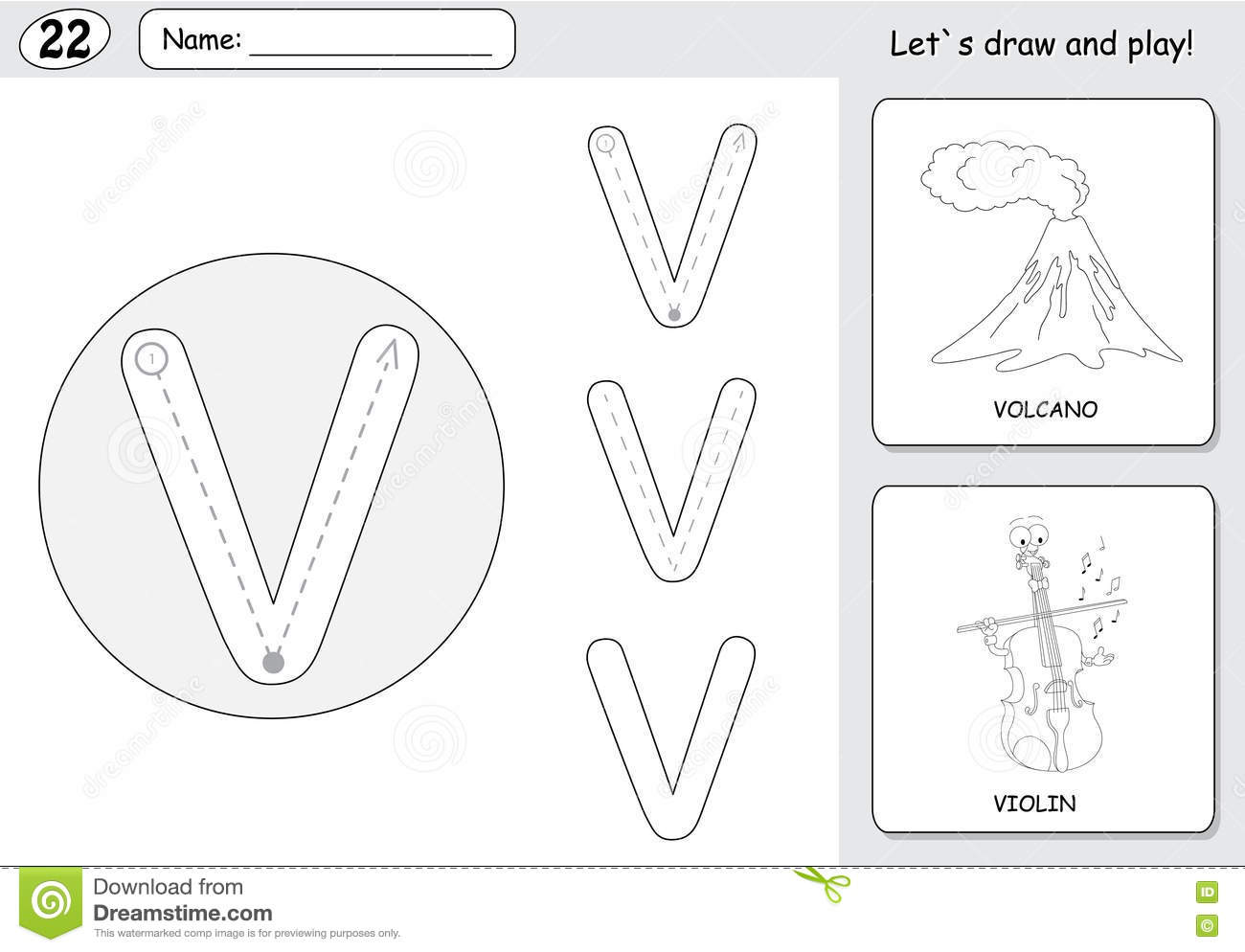Cartoon Math Worksheet