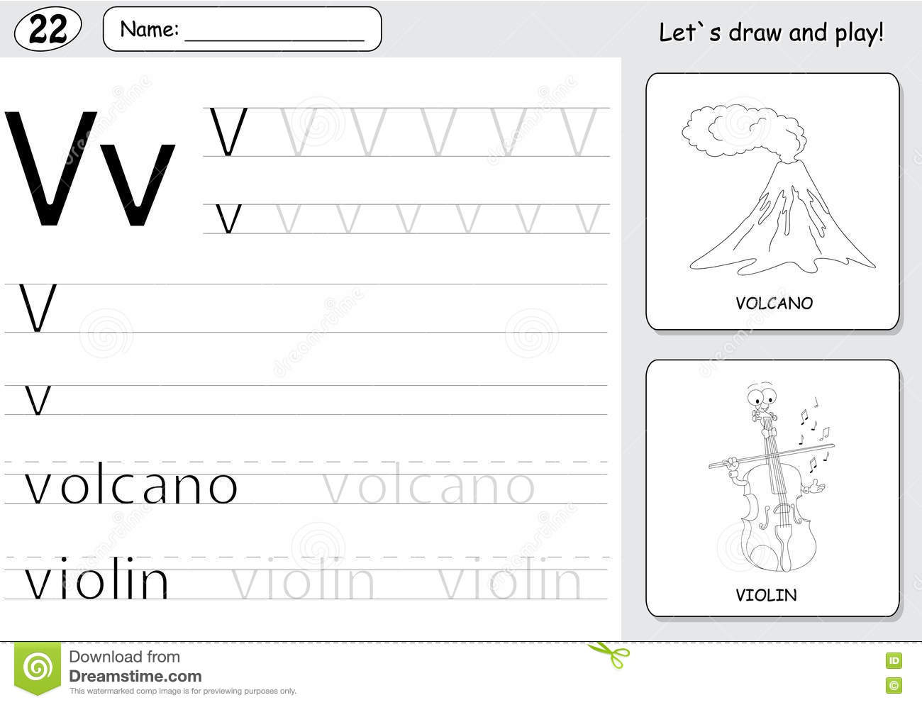 Worksheet Volcano Coloring