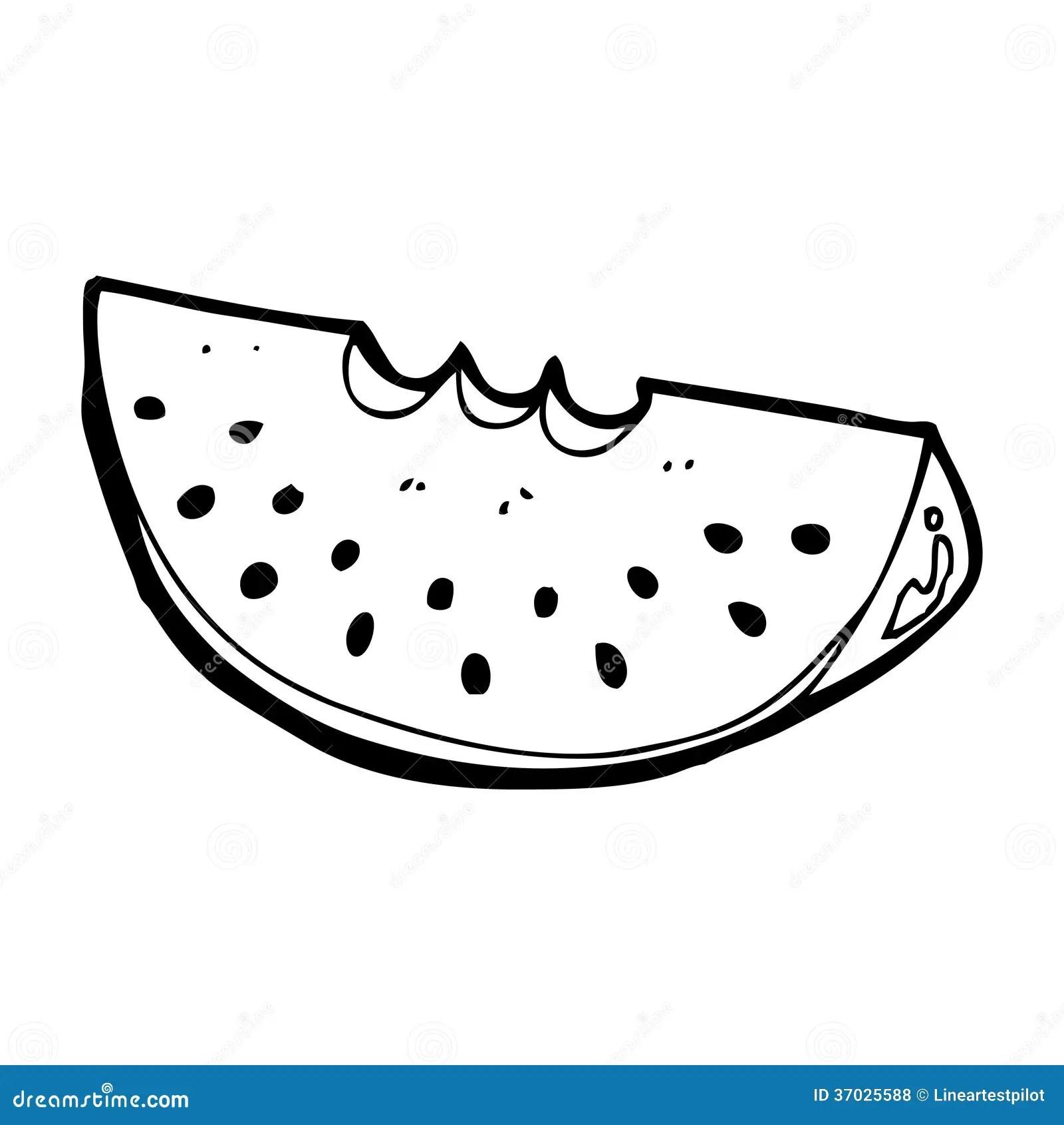 Cartoon Watermelon Slice Stock Illustration Illustration