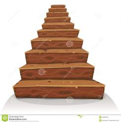 cartoon stairs wood wooden illustration castle stairway construction funny vector