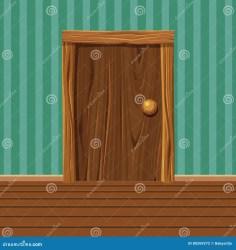 Wooden Cartoon Door