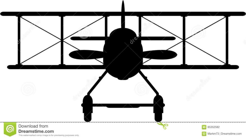 medium resolution of side view vector illustration of a world war one classic biplane in silhouette an eps file is also available
