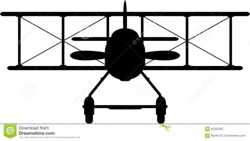 small resolution of side view vector illustration of a world war one classic biplane in silhouette an eps file is also available