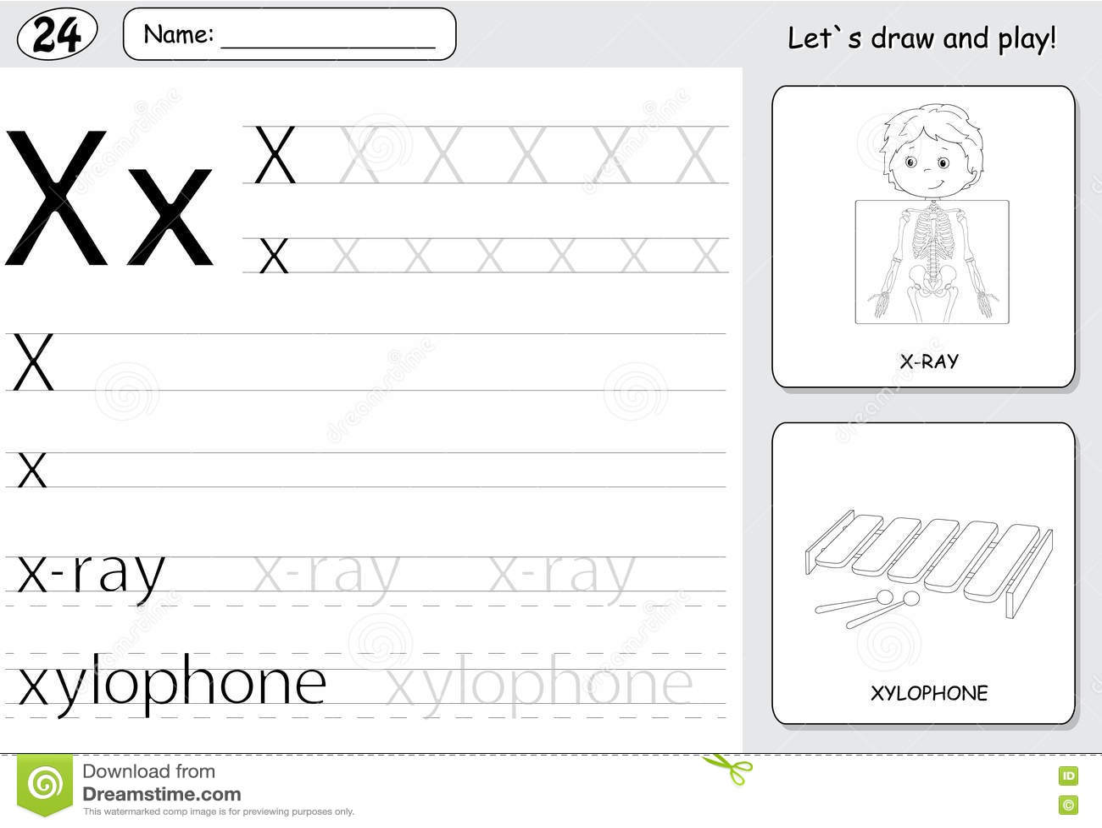Letter X Practice Worksheets