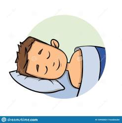 sleeping bed cartoon icon flat background illustration vector isolated young colorfull calm