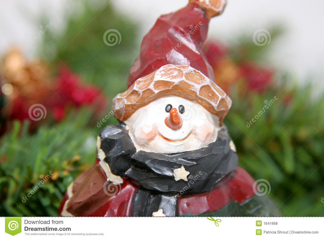 Carved Christmas Snowman Royalty Free Stock Photos Image