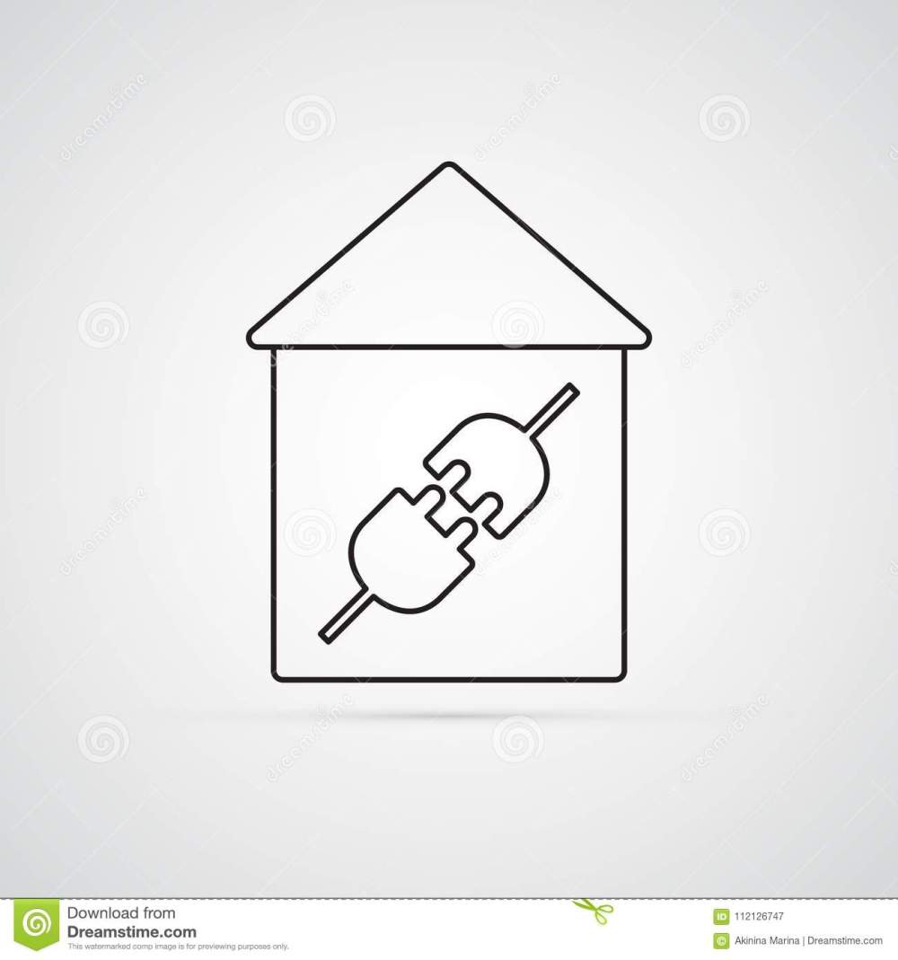 medium resolution of electric plug in house for illustration of electricity wiring home repairs symbol of connection type male and female