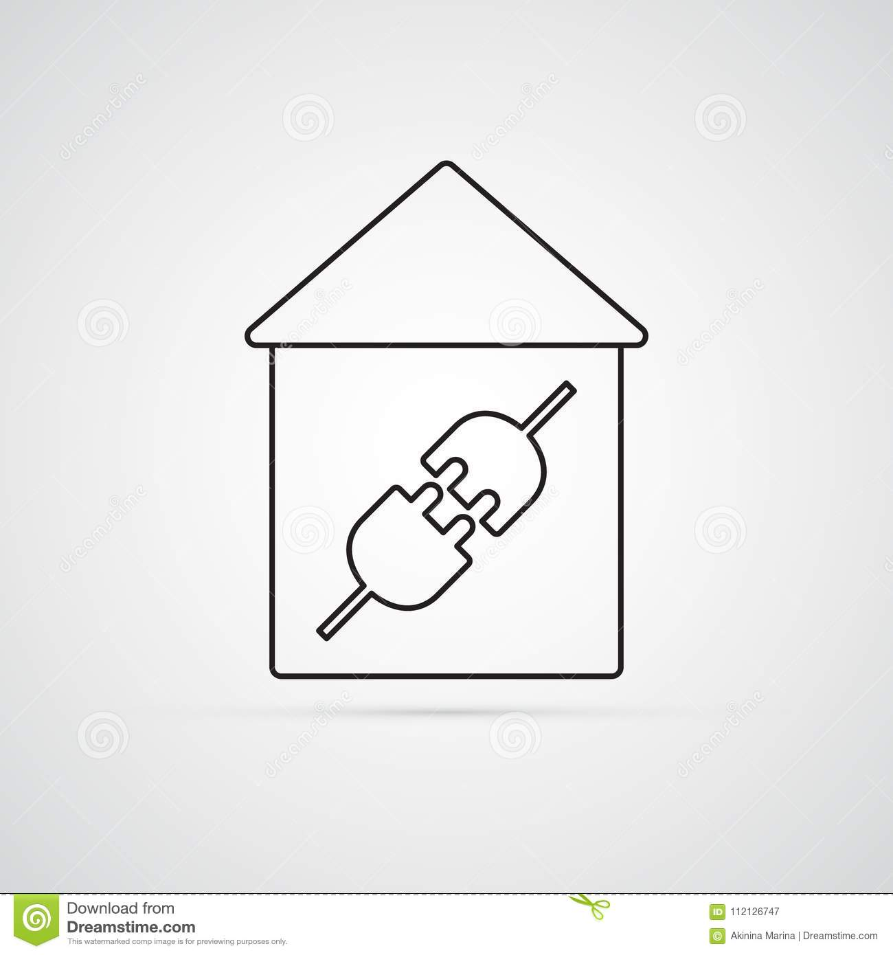 hight resolution of electric plug in house for illustration of electricity wiring home repairs symbol of connection type male and female