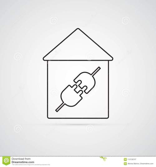 small resolution of electric plug in house for illustration of electricity wiring home repairs symbol of connection type male and female