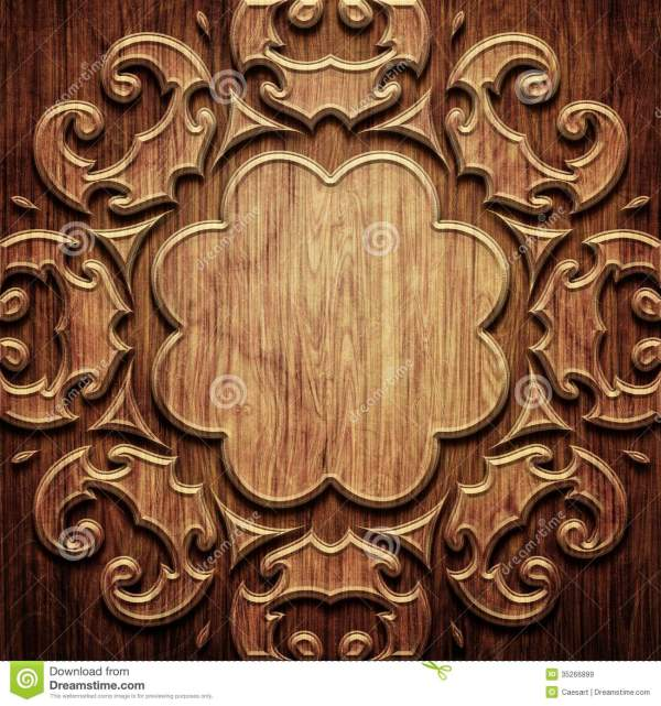 Carved Wooden Pattern Royalty Free Stock