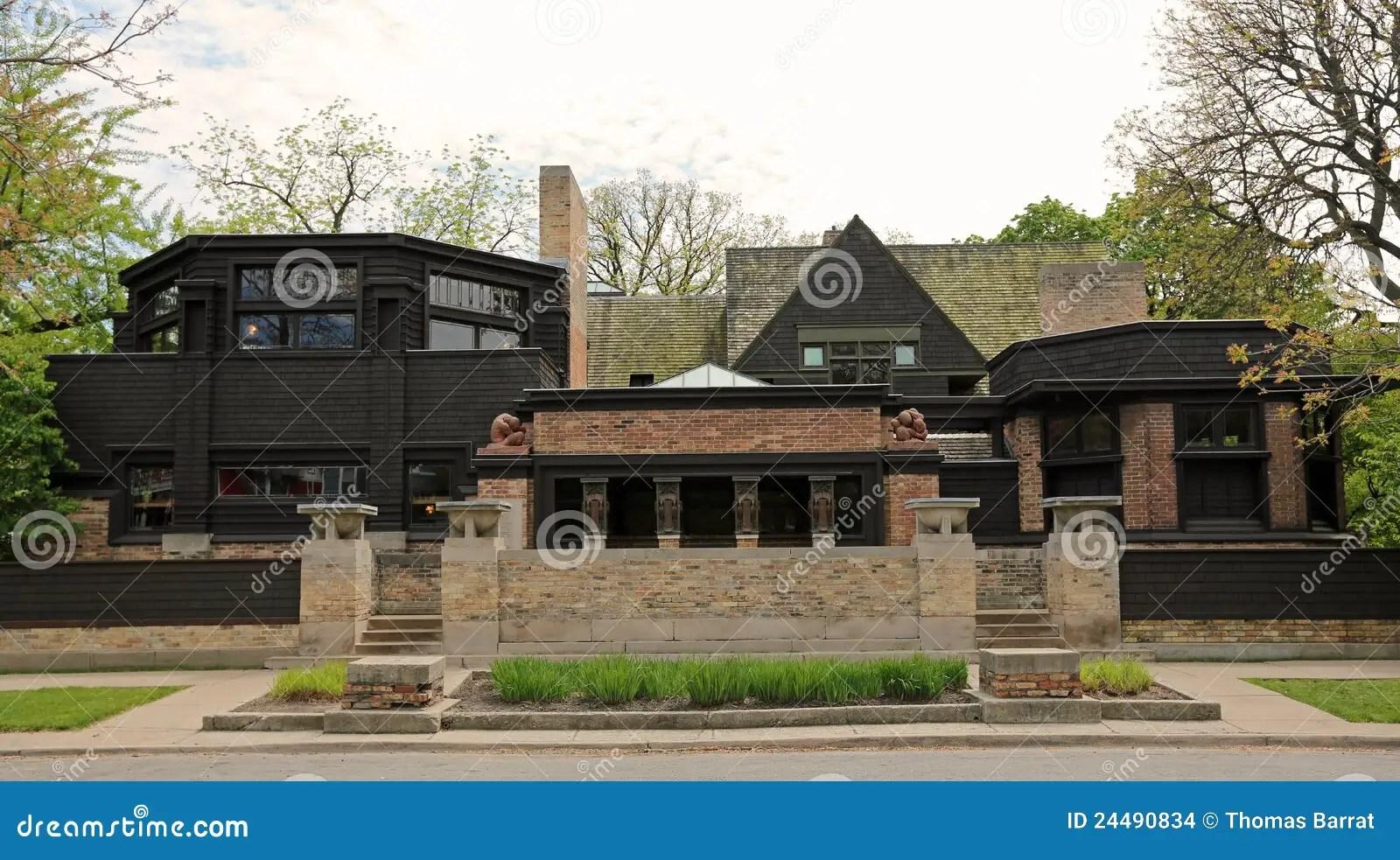 Casa  Studio Del Frank Lloyd Wright Fotografia Stock