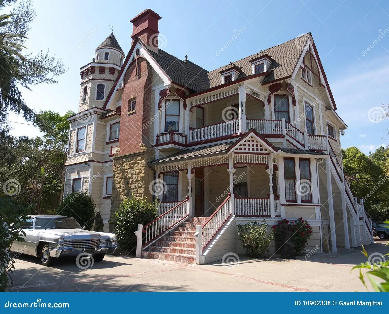 Casa Enorme Del Victorian Fotos de archivo libres de