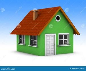 Casa verde simples ilustração stock Ilustração de simples