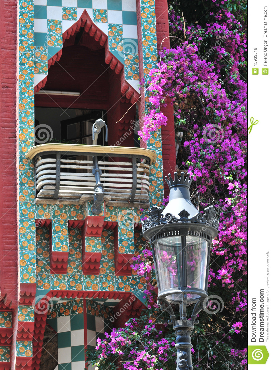 Casa Vicens By Gaudi Royalty Free Stock Image  Image