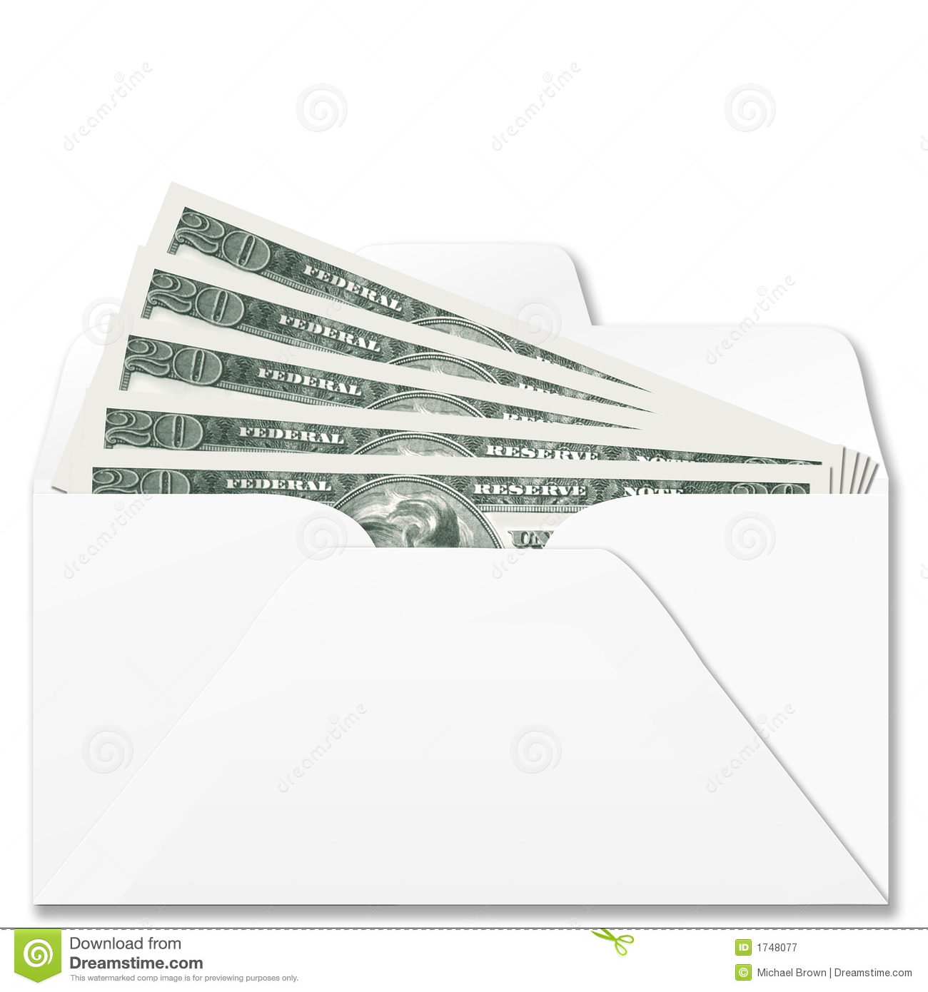 Cash In Bank Envelope Royalty Free Stock Photography