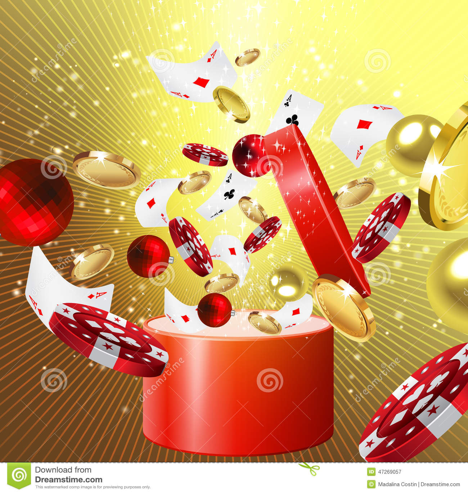 Casino Christmas T Stock Illustration Image Of