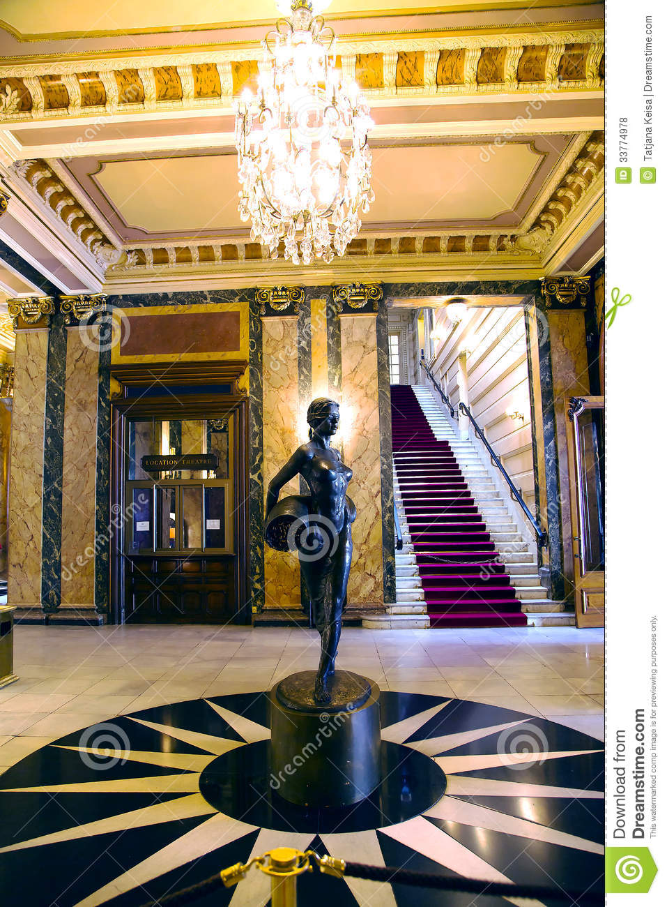 Casino Interior In Monte Carlo Royalty Free Stock Photos