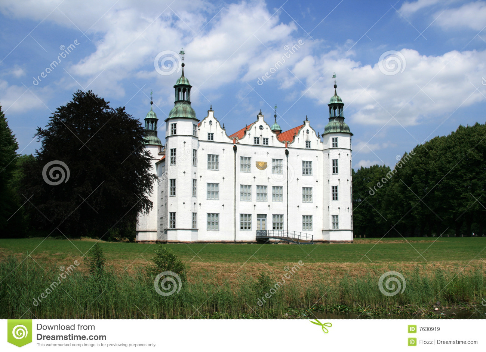 castle ahrensburg stock image
