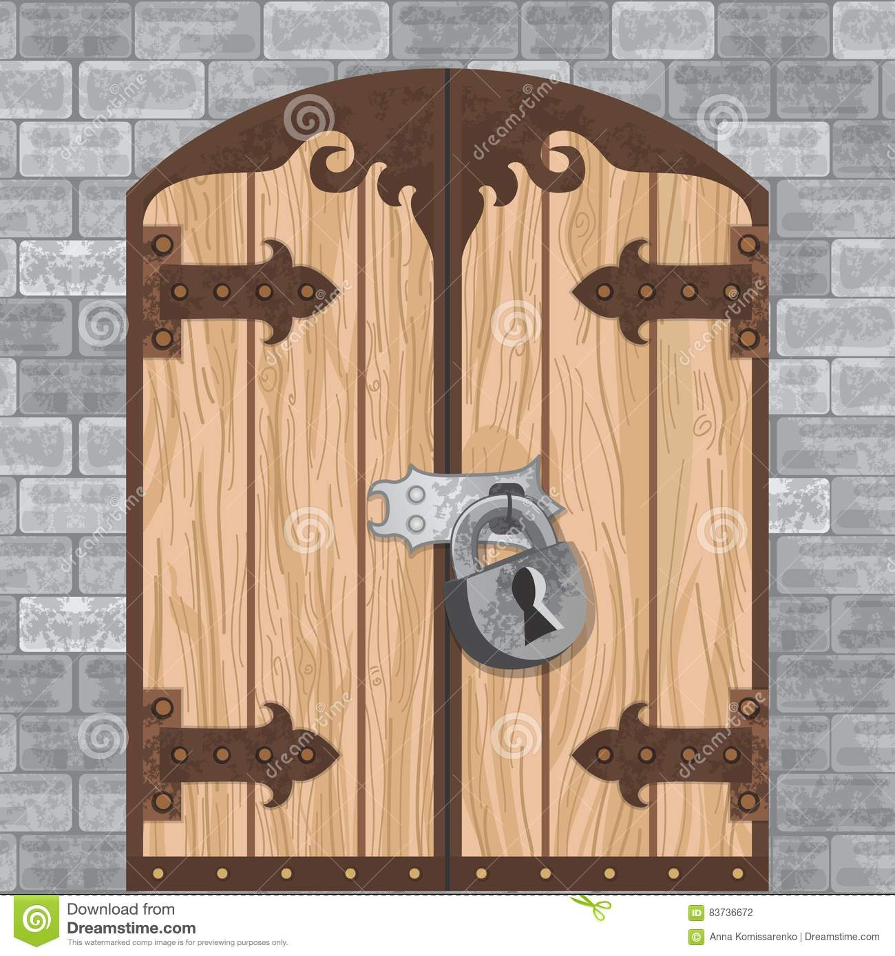 Castle Gate Vector Stock Vector Image Of Grunge