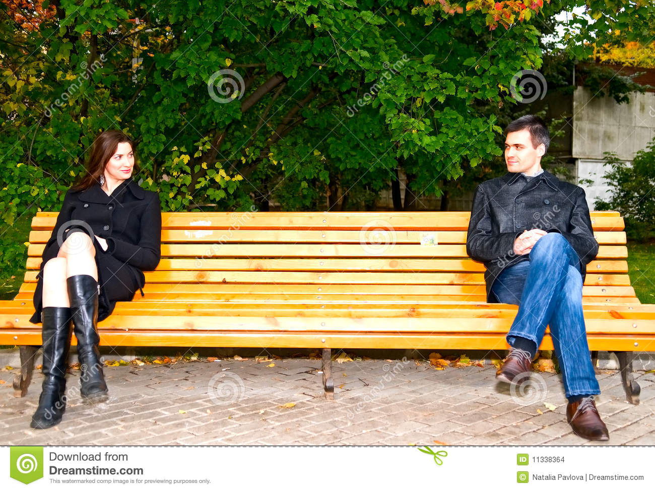 Casual Meeting In The Park Stock Images Image 11338364