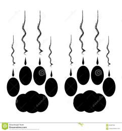 cat paws with claws and scratches on white background  [ 1300 x 1390 Pixel ]