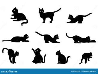 Cute Kitten Clipart Black And White 1