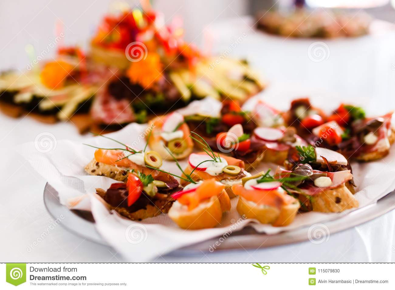 catering snacks appetizers or