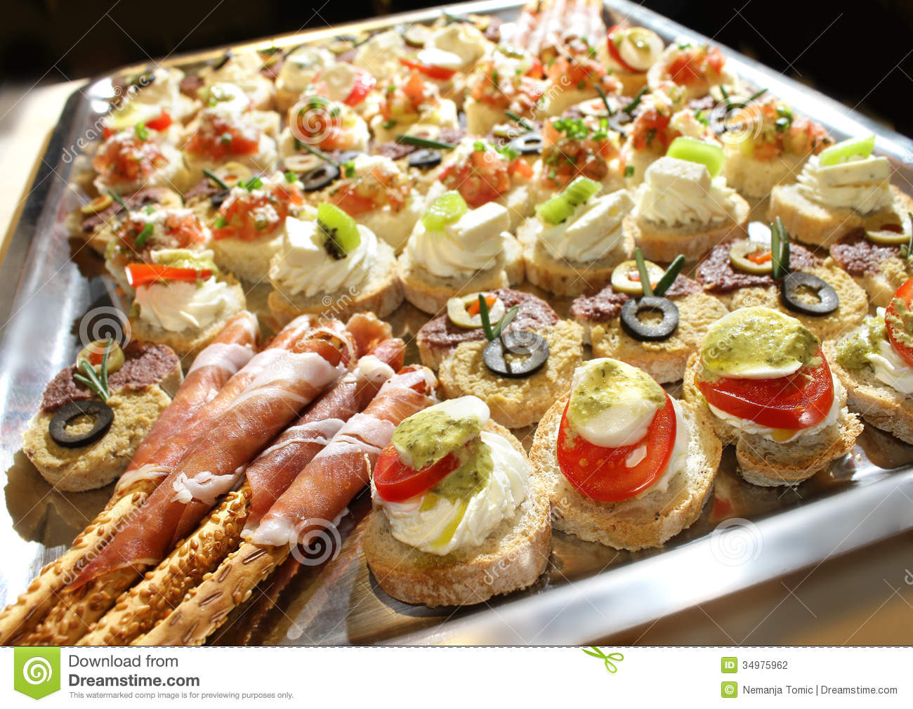 Fingerfood Kind Catering Stock Photography Image 34975962