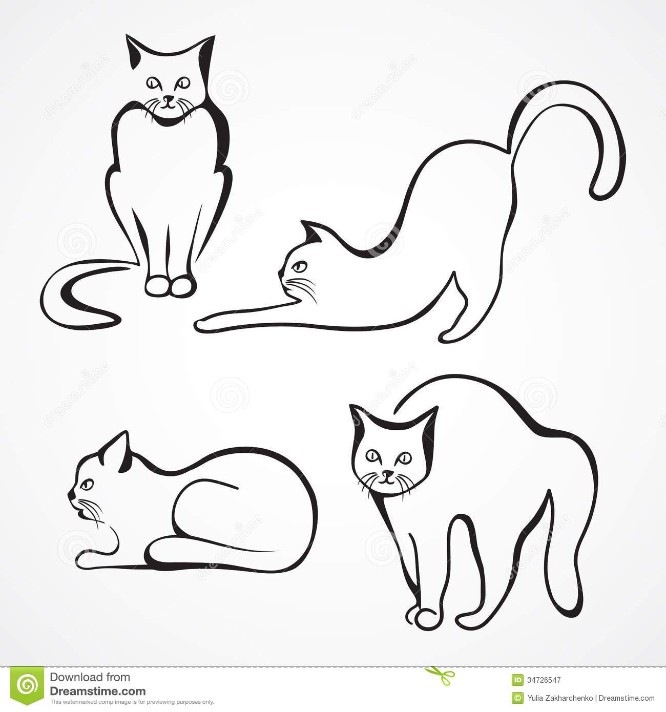 Cats Vector Collection Stock Vector Illustration Of Child
