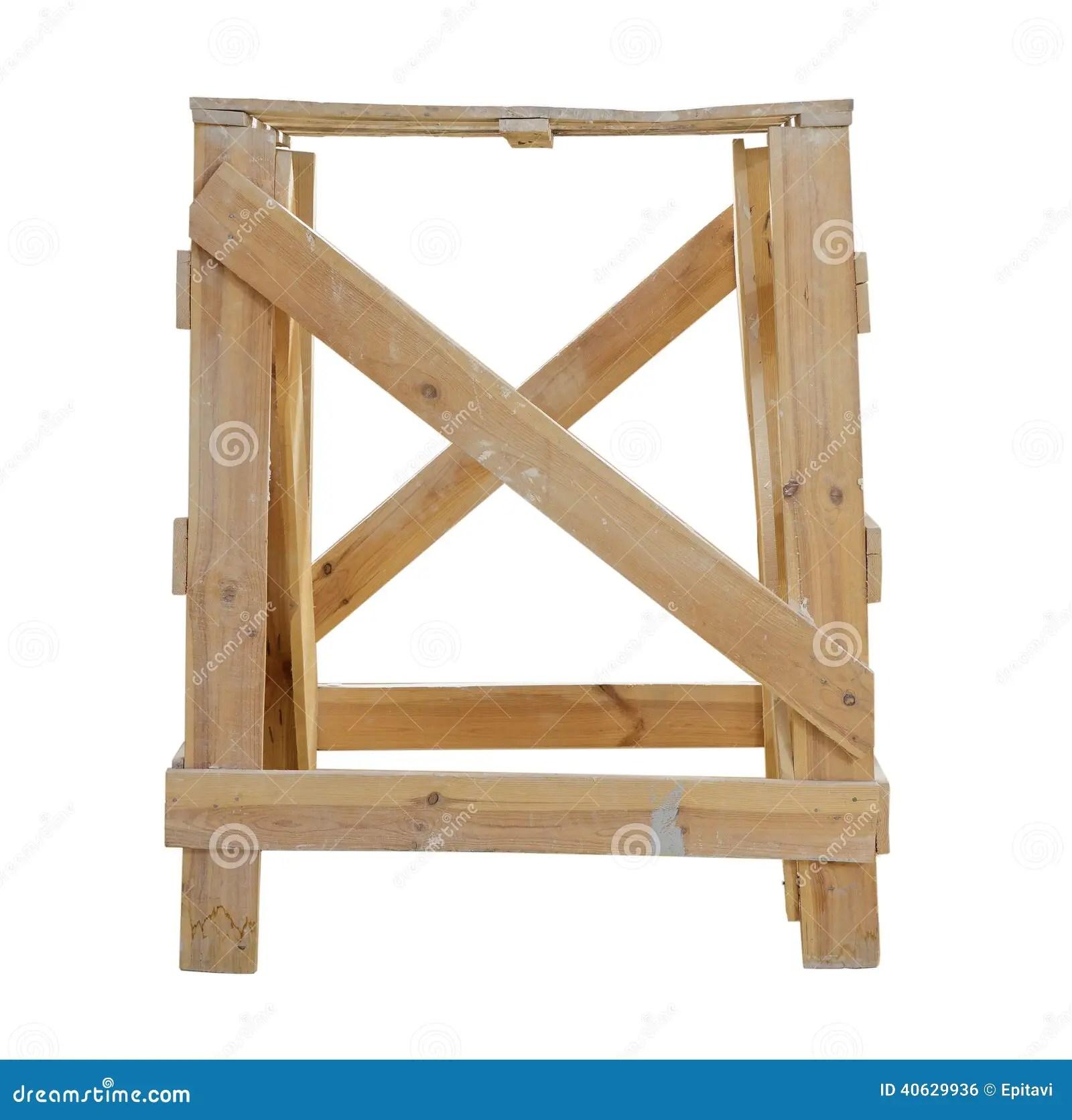 Cavalletti di legno fotografia stock Immagine di architettura  40629936