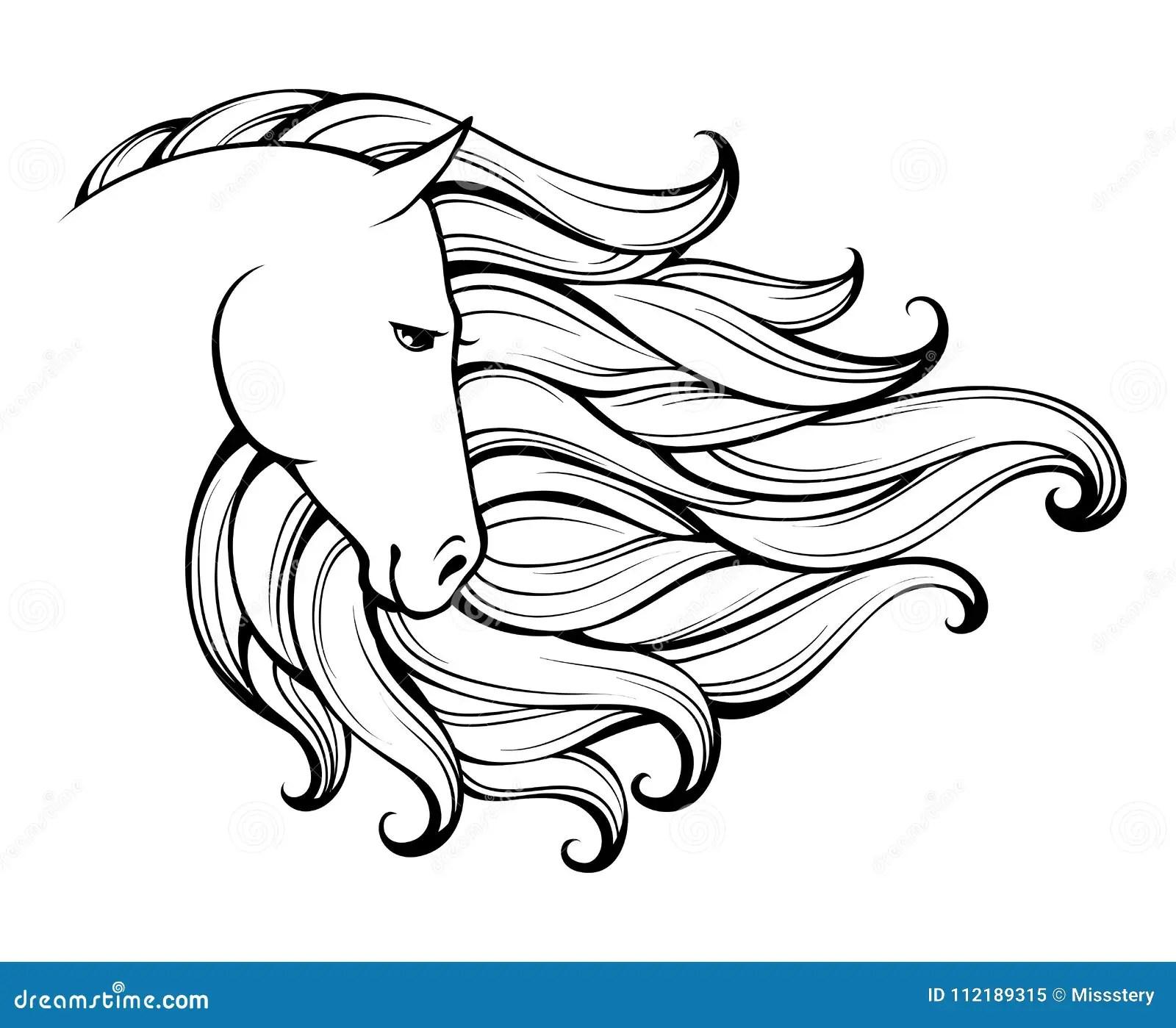 Cavallo Stilizzato Illustrazioni, Vettoriali E Clipart