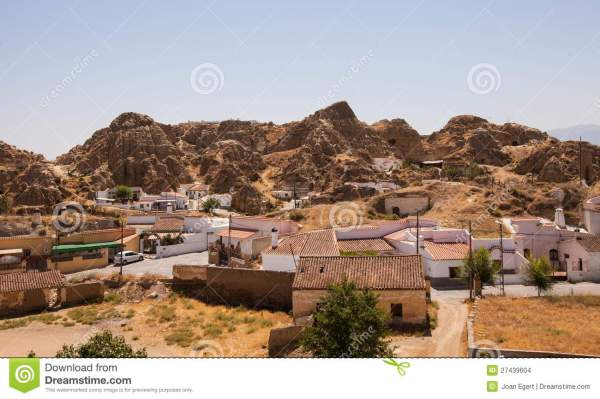 Caves Houses Of Guadix Stock Grotto Homes