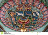 Ceiling Of A Hindu Temple Stock Photo - Image: 4772060