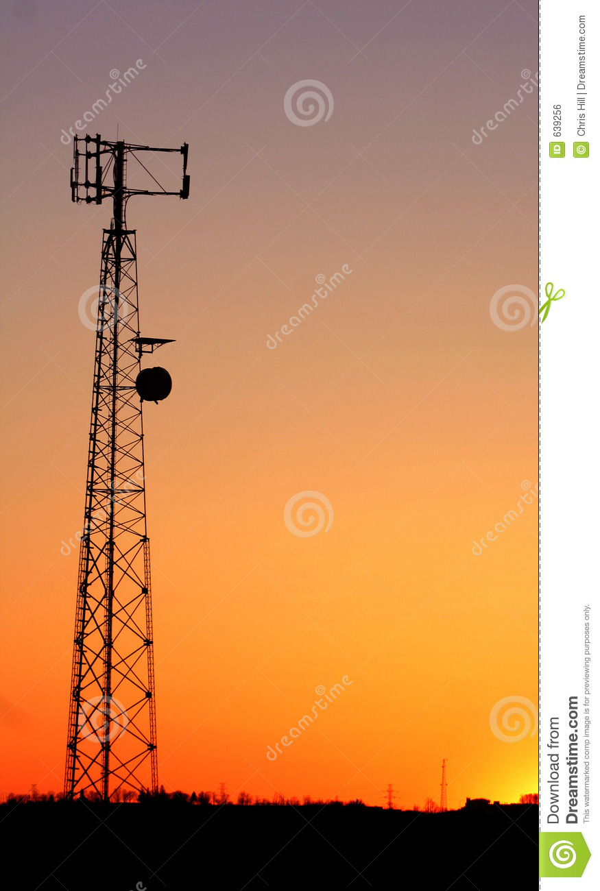 Cell Phone Tower Silhouette Royalty Free Stock Image  Image 639256
