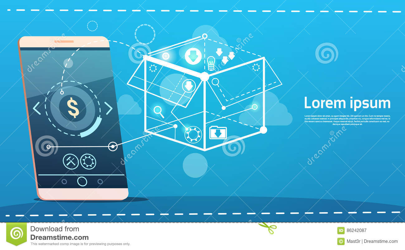 hight resolution of cell smart phone brainstorming briefing idea creative concept business banner