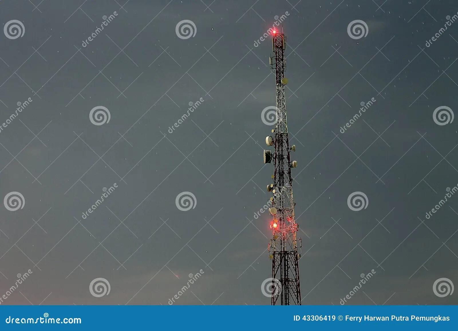 cellular phone tower signal diagram lewis dot for hcn transmitter telecommunication stock photo