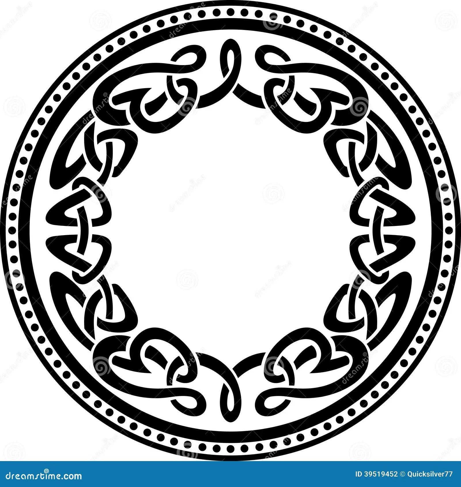 Celtic Round Pattern Border Stock Vector Image 39519452