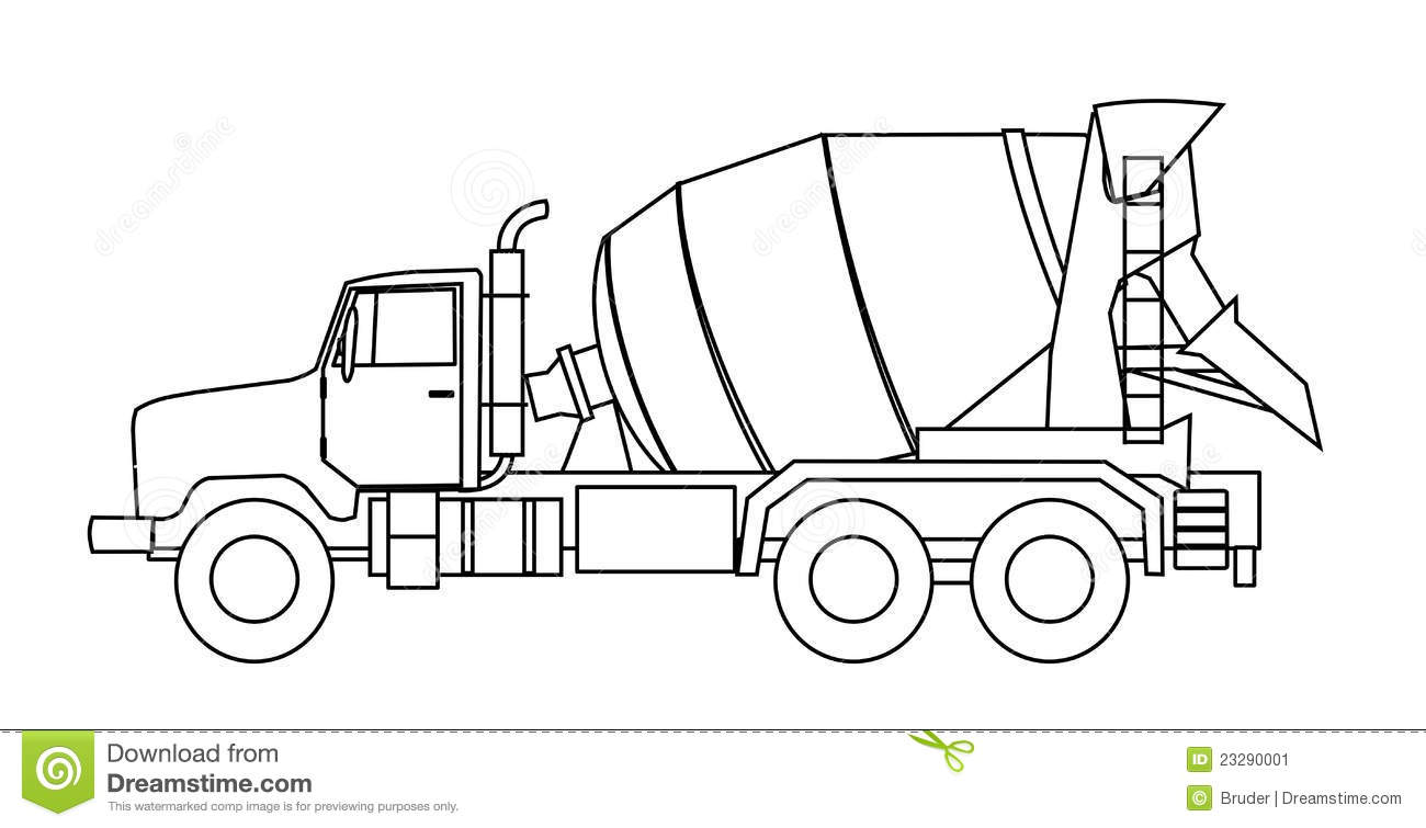 Cement mixer truck stock vector. Illustration of
