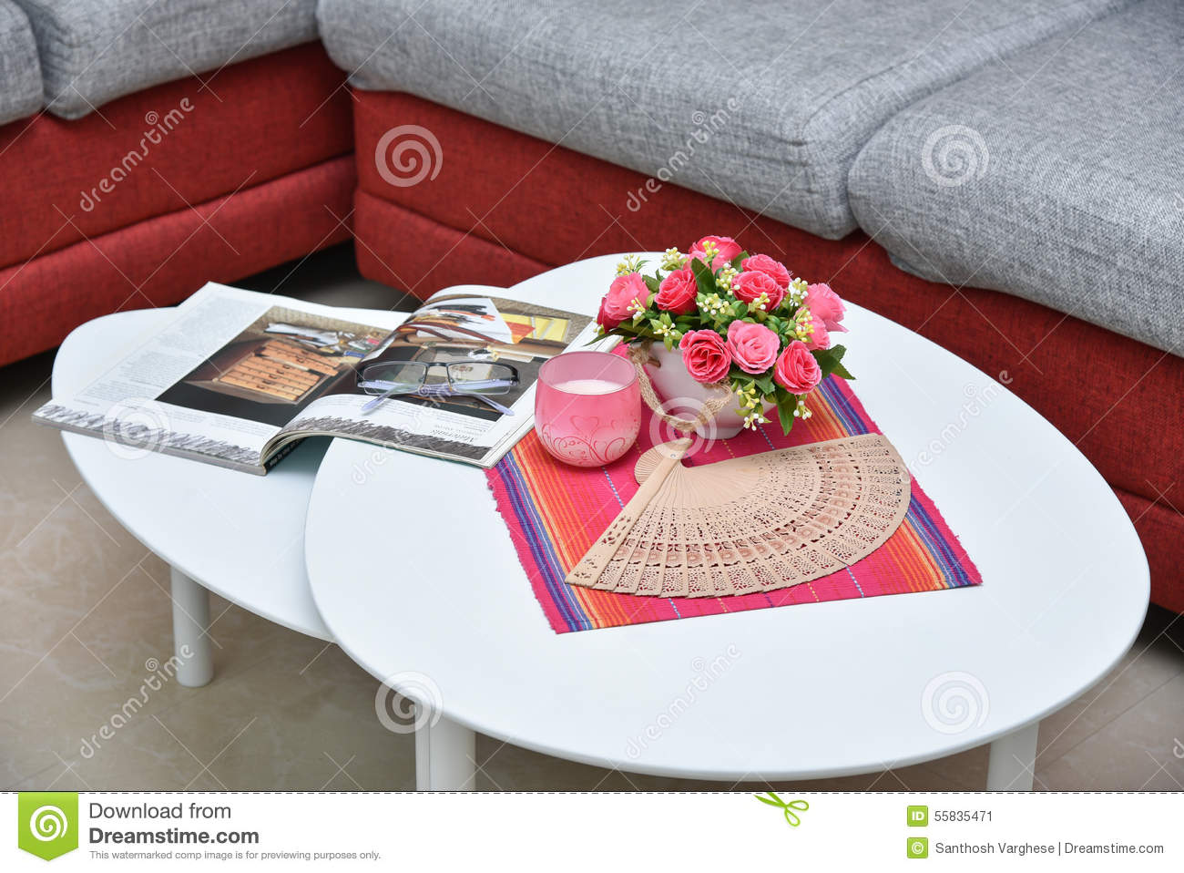 Centre Table In Living Room Stock Image Image Of Armchair House 55835471
