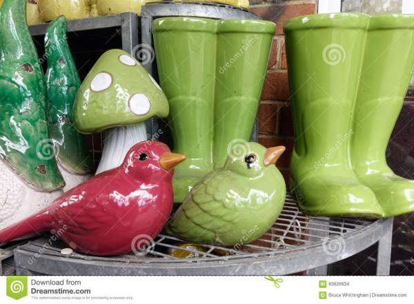 Ceramic Garden Ornaments Stock Of