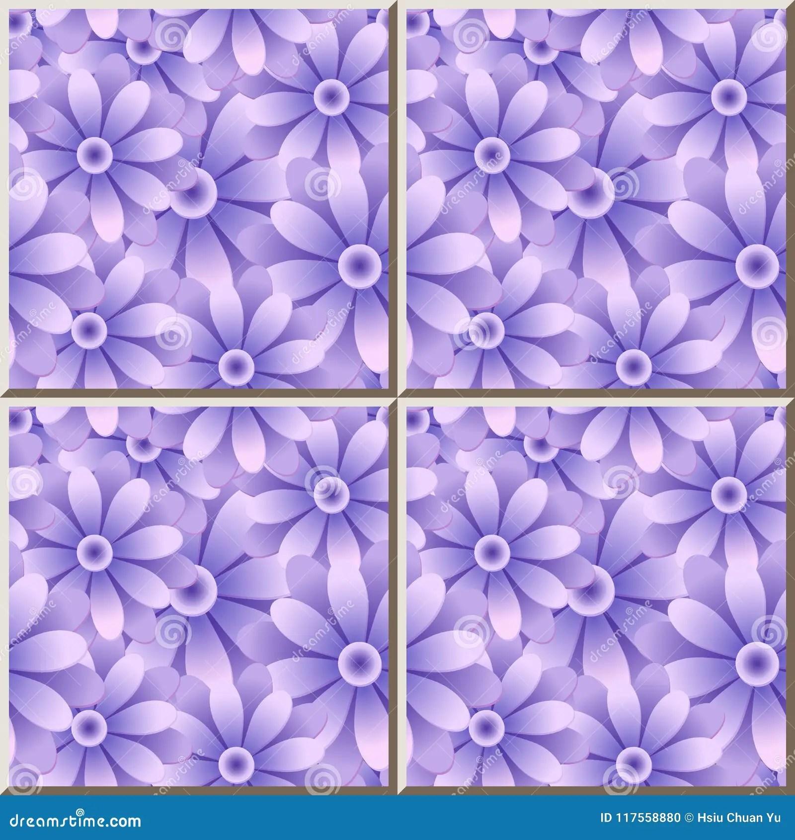 https www dreamstime com ceramic tile pattern purple blue round daisy garden flower ceramic tile pattern purple blue round daisy garden flower oriental image117558880