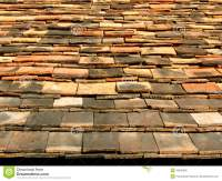Ceramic Tile Roof Stock Photo