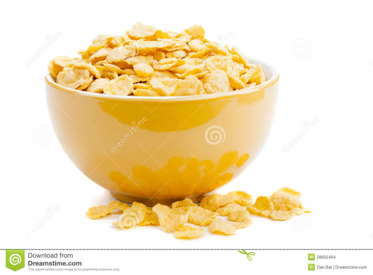 hight resolution of cereal cornflakes in a bowl