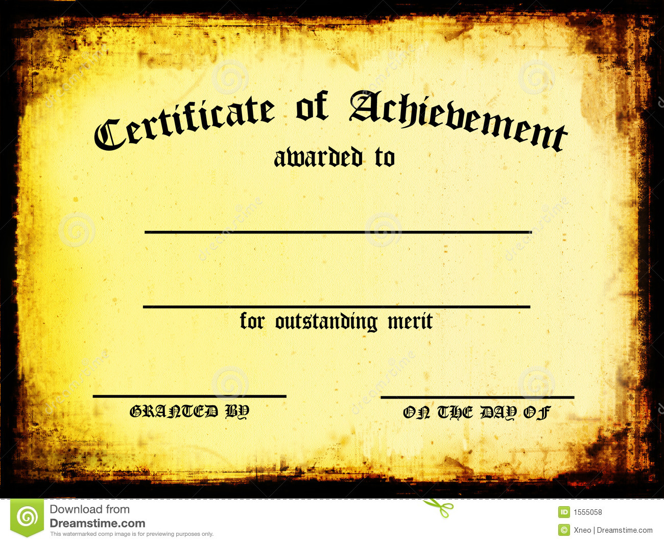 Certificate of Achievement stock illustration. Illustration of paper ...