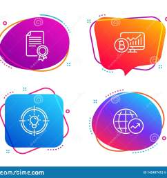 certificate bitcoin chart and idea icons set world statistics sign vector [ 1600 x 1383 Pixel ]