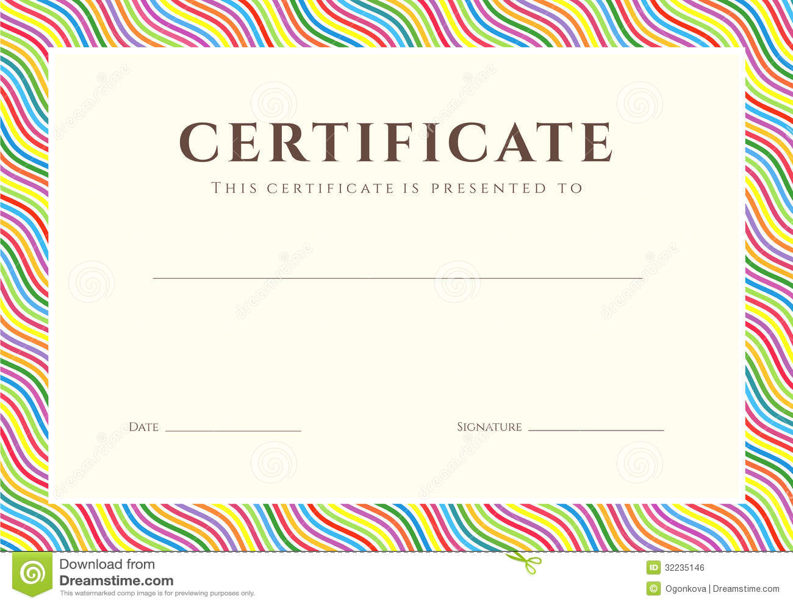 Certificate / Diploma Background (Template) Illustration 32235146 - Megapixl