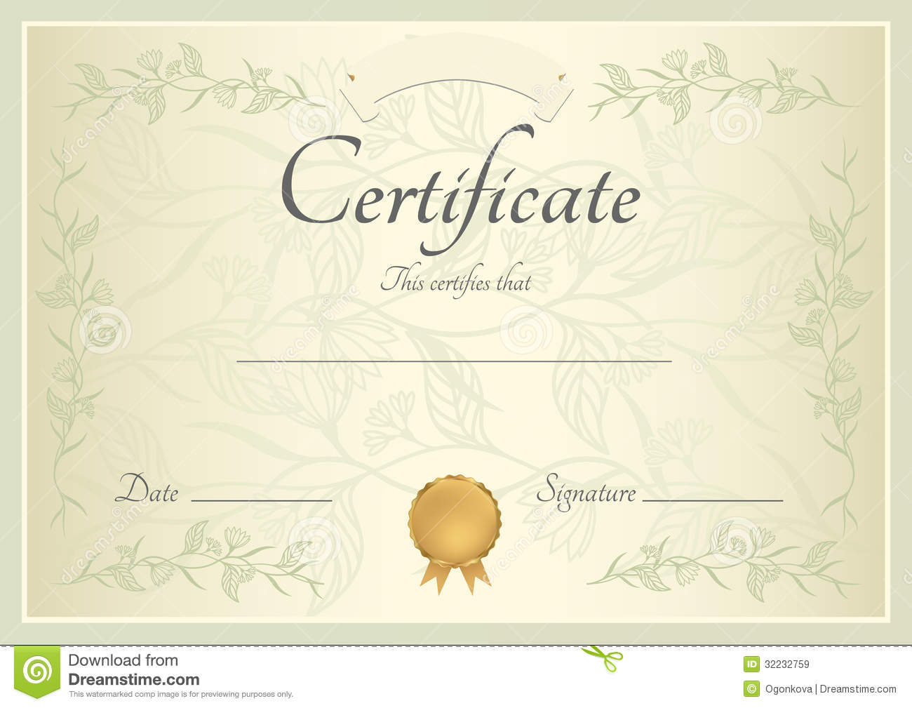 free stock certificate template download