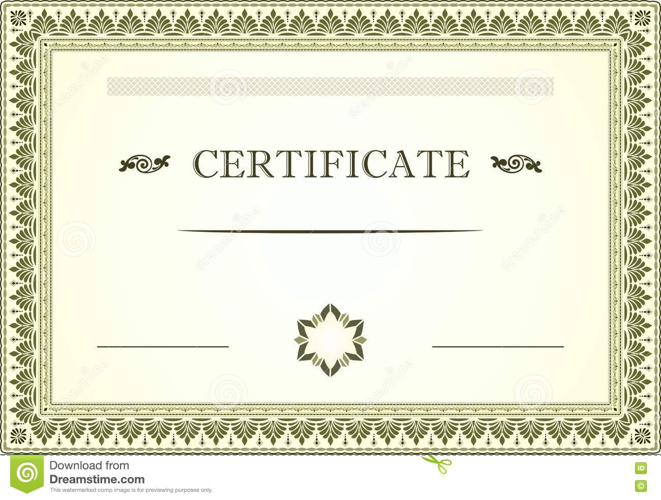 Gift Certificate Border Template Gallery Certificate