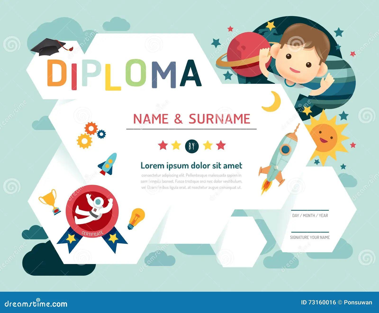 preschool diplomas templates