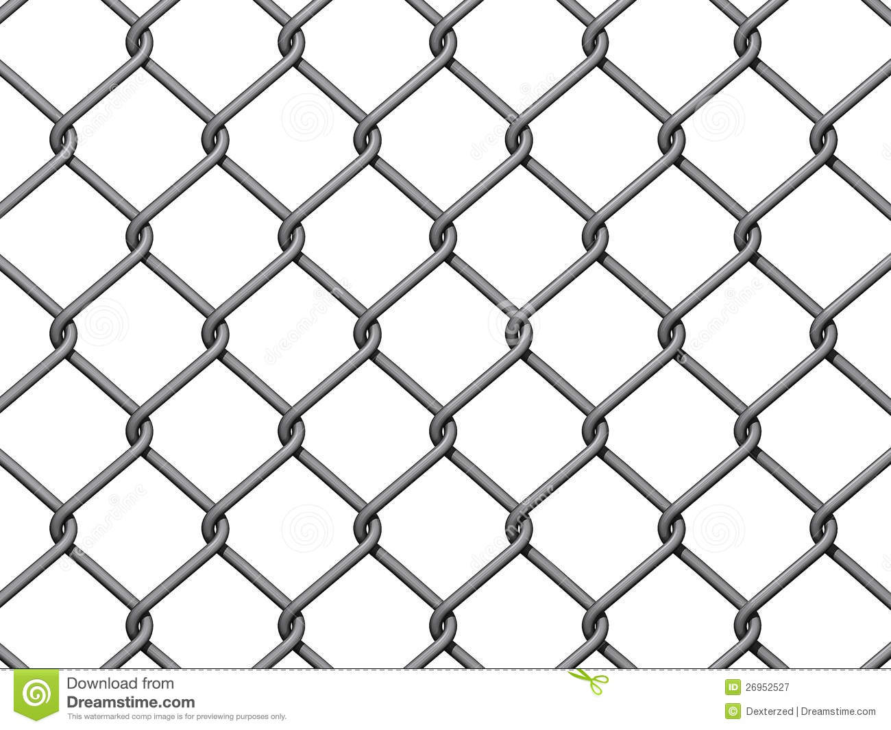 Chain Link Fence Background Stock Illustration